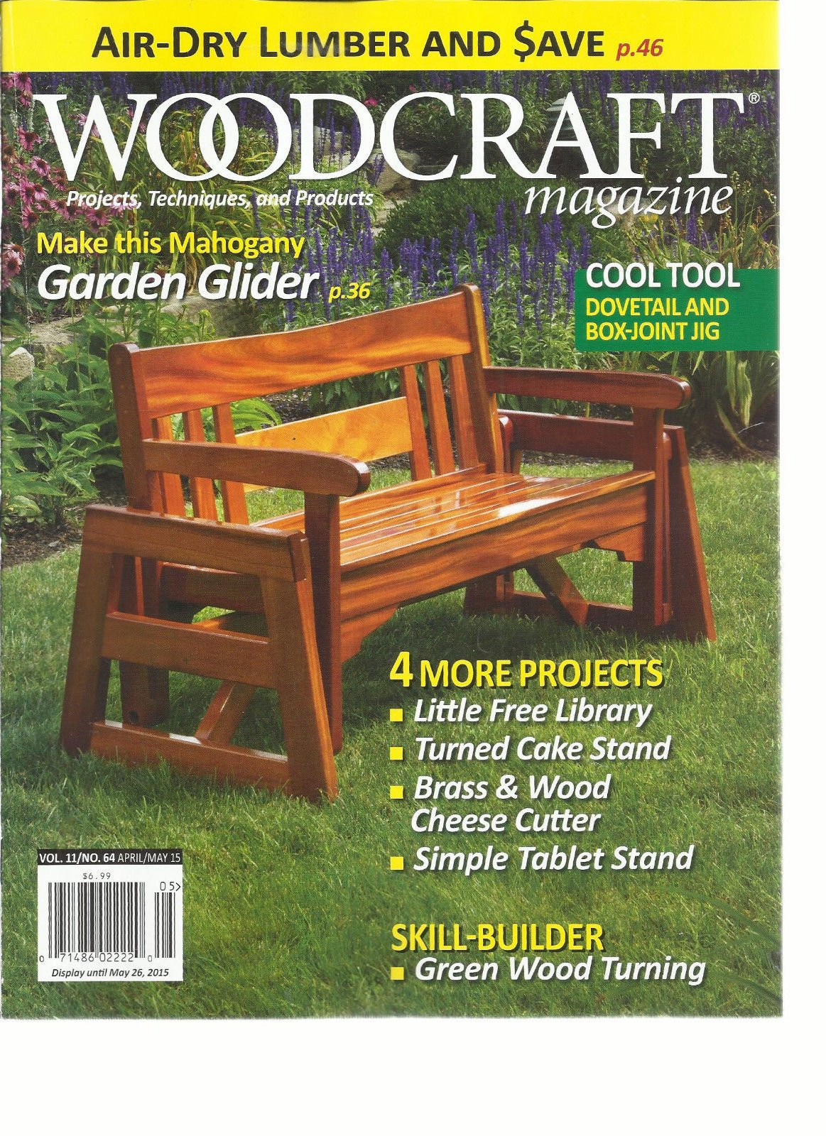 WOOD CRAFT, APRIL/MAY, 2015 (PROJECTS * TECHNIQUES & PRODUCTS)