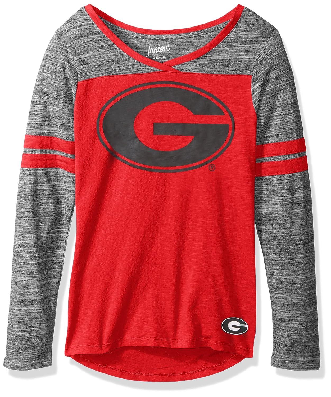 15-17 NCAA Georgia Bulldogs Juniors Outerstuff Secret Fan Long Sleeve Football Tee X-Large Team Color