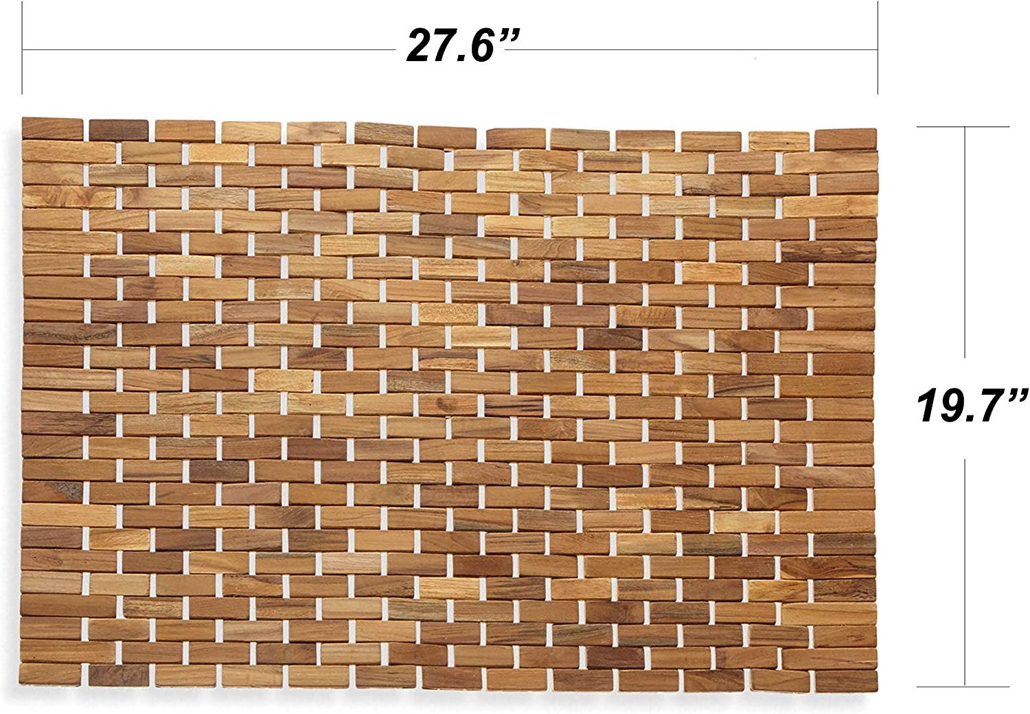 Luxurious Bamboo Bath Mat For Shower Spa Or Sauna 27x19 Large By Bath