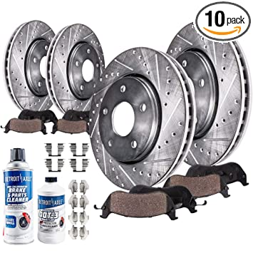 For 2004 2005 2006 2007 2008 Ford F150 Ceramic Brake Pads /& Cross Drilled Rotors