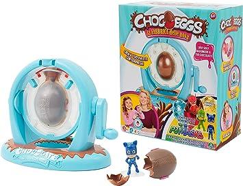 Giochi Preziosi – »Chocoeggs: la fábrica de Huevos» de PJ Masks - Juego para Hacer Huevos de Chocolate con Sorpresa de los Héroes en Pijama