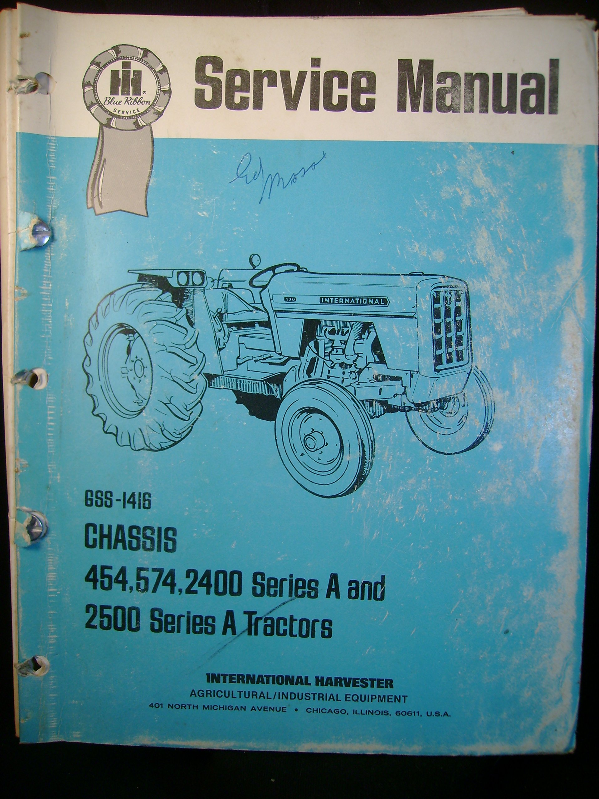 784 international 454 575 2400 series a 2500 series a tractor chis      on tractor international tractor wiring schematic