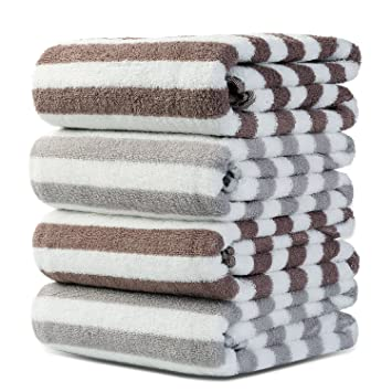 Srotek Premium Cotton 4 Piece Bath Towels Set,Ultra Soft / Highly Absorbent Bath  Towel