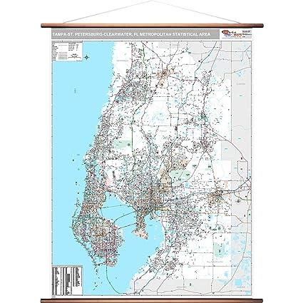Tampa Area Zip Code Map.Amazon Com Marketmaps Tampa St Petersburg Clearwater Fl Metro Area