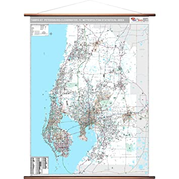 Map Of Florida Showing Clearwater.Amazon Com Marketmaps Tampa St Petersburg Clearwater Fl Metro Area