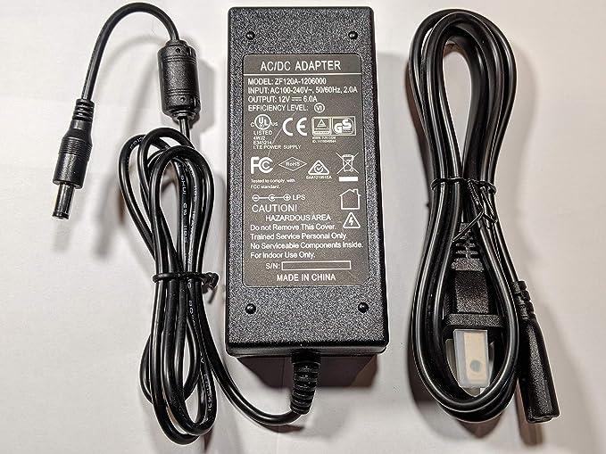 Amazon com: K2 Home Tech 12v 6A AC/DC Power Supply with 5 5