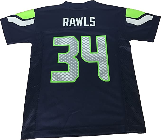 outlet store 86f5b 63e5d Thomas Rawls Seattle Seahawks #34 Navy NFL Youth Home Mid Tier Jersey
