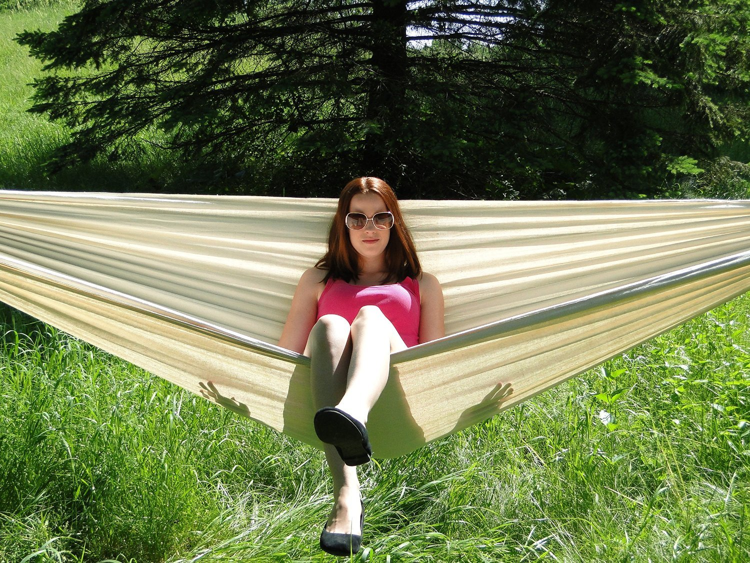 Double Hammock - Two Person Bed for Backyard, Porch, Outdoor and Indoor Use