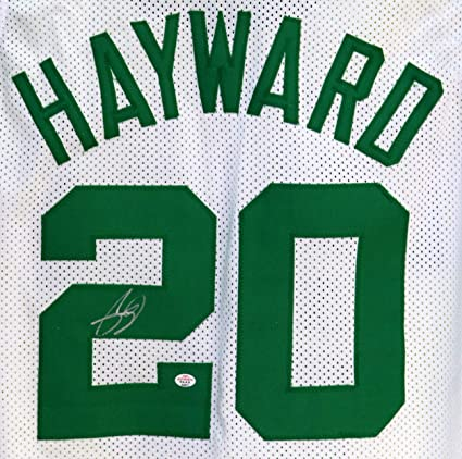 100% authentic e5918 2392e Gordon Hayward Boston Celtics Signed Autographed White #20 ...