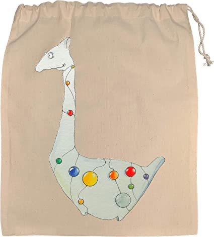 Nouveau Girafe Zoo Design Naturel Sac Fourre-tout Pet Race cadeau animaux de Noël