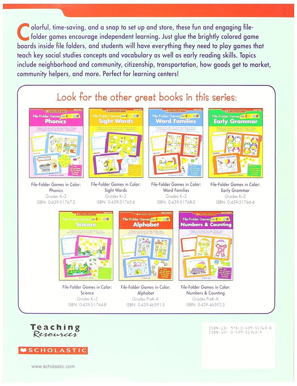 Amazoncom Scholastic 9780439517638 Social Studies File Folder