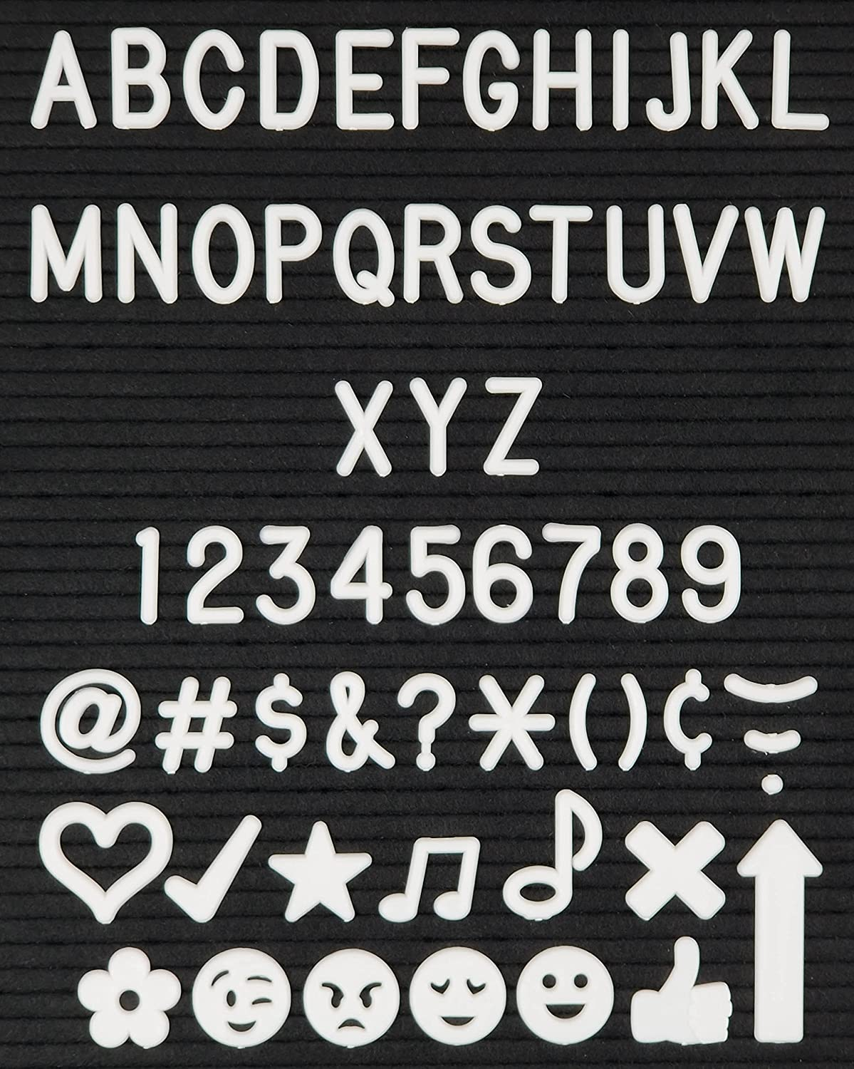 Numbers and Symbols for Changeable Letter Boards 2 2 Large Letter Set for Felt Letter Board 164 Piece White Letters