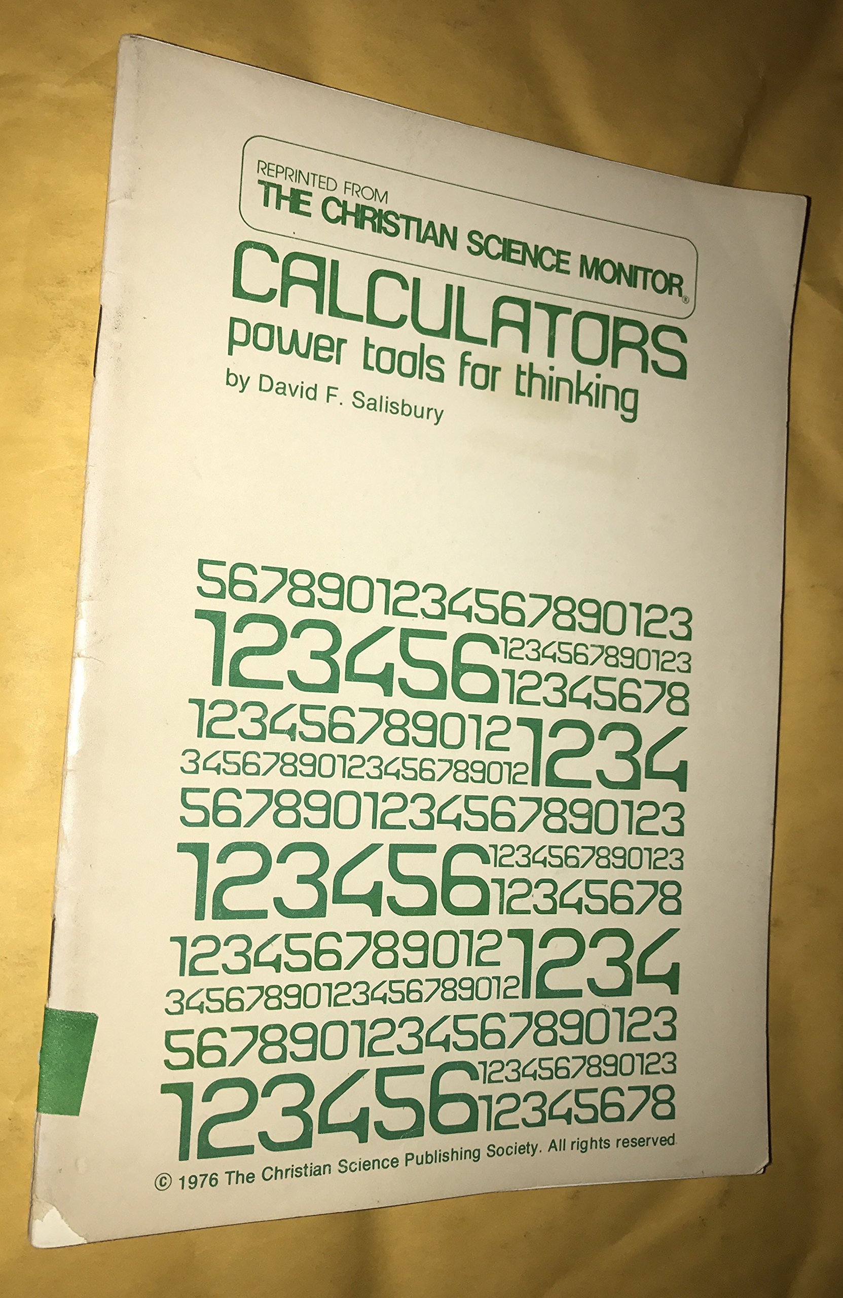 Calculators: Power tools for thinking
