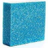 360Feel Men's Cool Spring Scrub Soap -5oz Castile Handmade Soap bar -Bold Masculine fresh bergamot citrus woody floral notes-