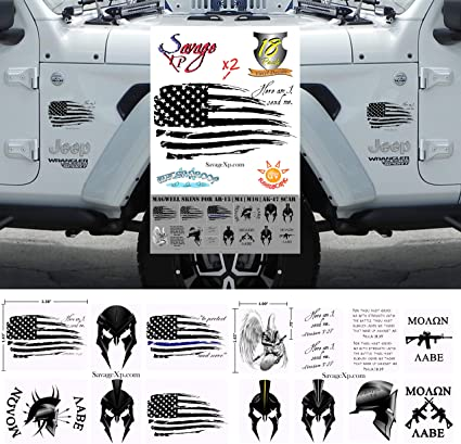 US Flag Vinyl Decal Universal fit Rear Quarter Window Distressed Grunge American