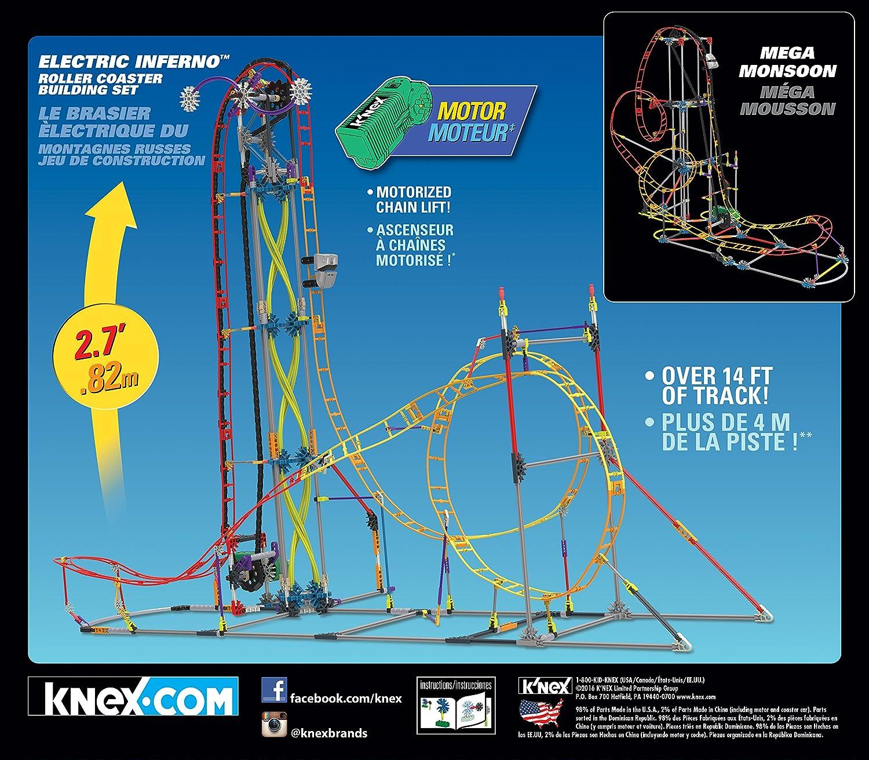 Amazon.com: K\'NEX Thrill Rides – Electric Inferno Roller Coaster ...