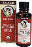 Badger After-Shave Face Oil Glass Bottle, 4 Ounce