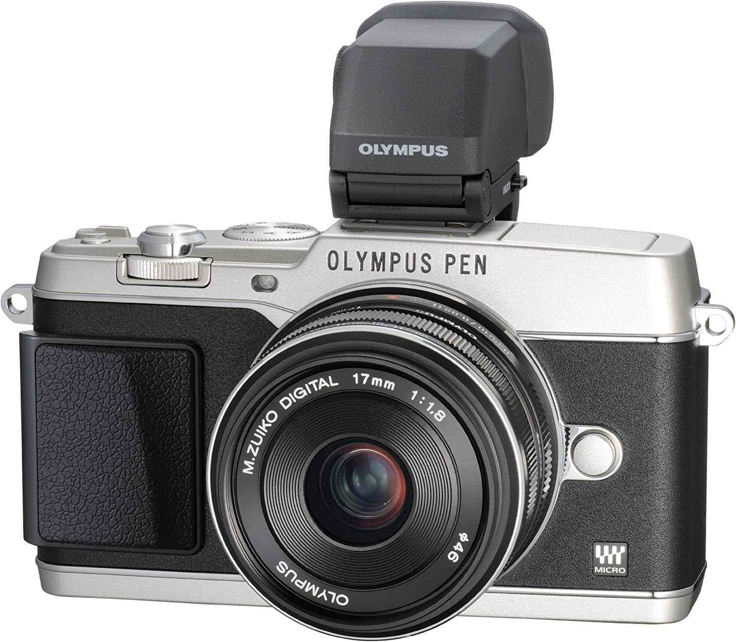 Amazon Com Olympus E P5 16 1 Mp Mirrorless Digital Camera With 3 Inch Lcd And 17mm F 1 8 Lens Silver With Black Trim Compact System Digital Cameras Camera Photo