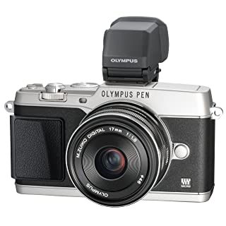 Olympus E-P5 16.1 MP Mirrorless Digital Camera with 3-Inch LCD and 17mm f/1.8 lens (Silver with Black Trim)