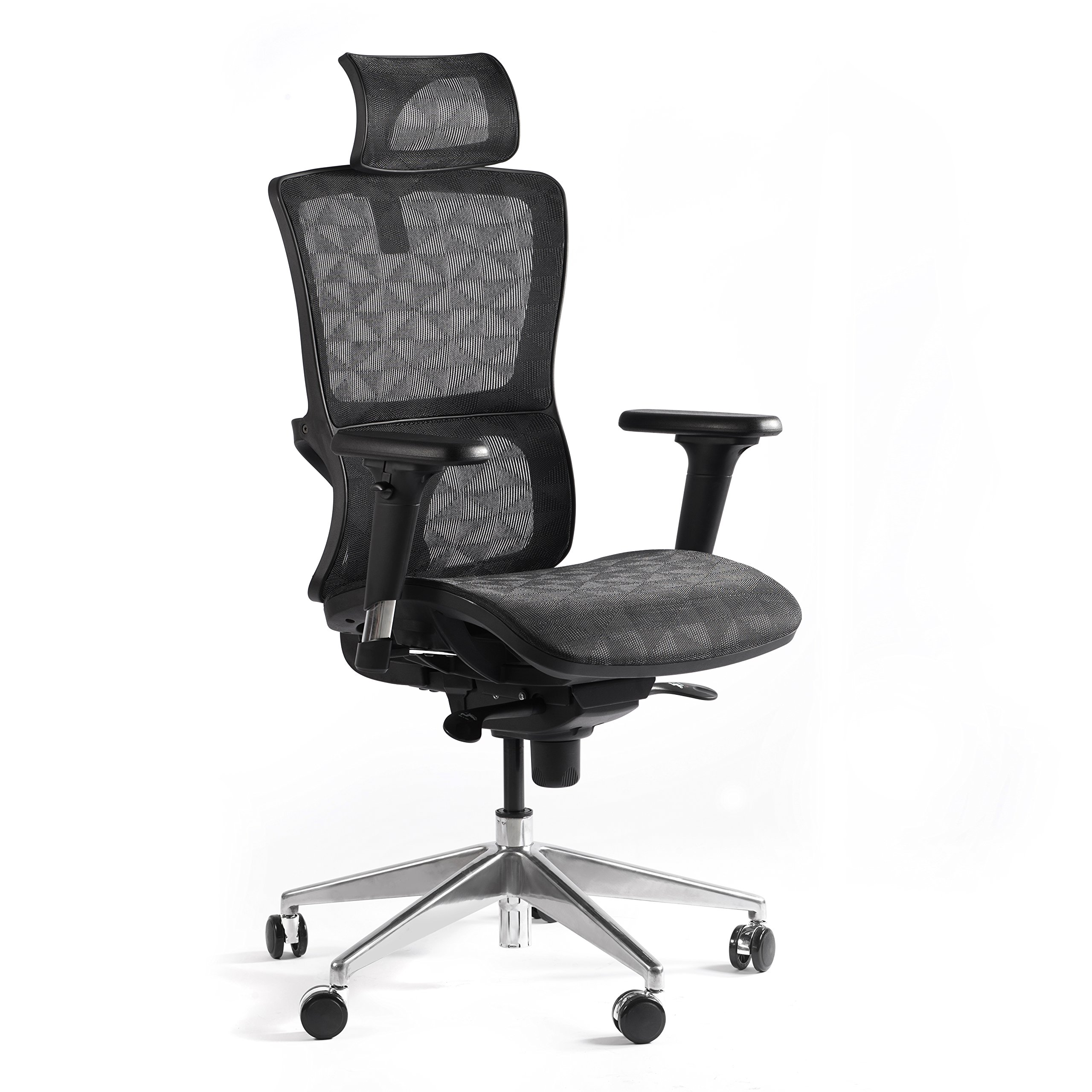 CCTRO High Back Mesh Ergonomic Office Chair Executive Computer Task Chair with Adjustable Headrest Armrest for Home Office Conference Room