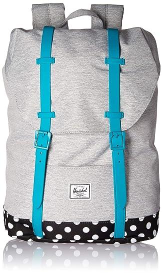 db170a5f468 Herschel Kids  Retreat Youth Children s Backpack Light Grey Crosshatch Tile  Blue Mini Polka