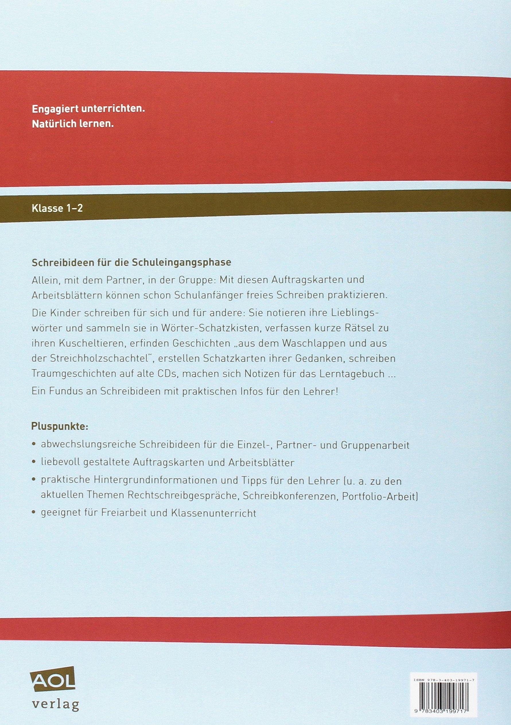 Schreibideen für d. Schuleingangsphase: Auftragskarten ...