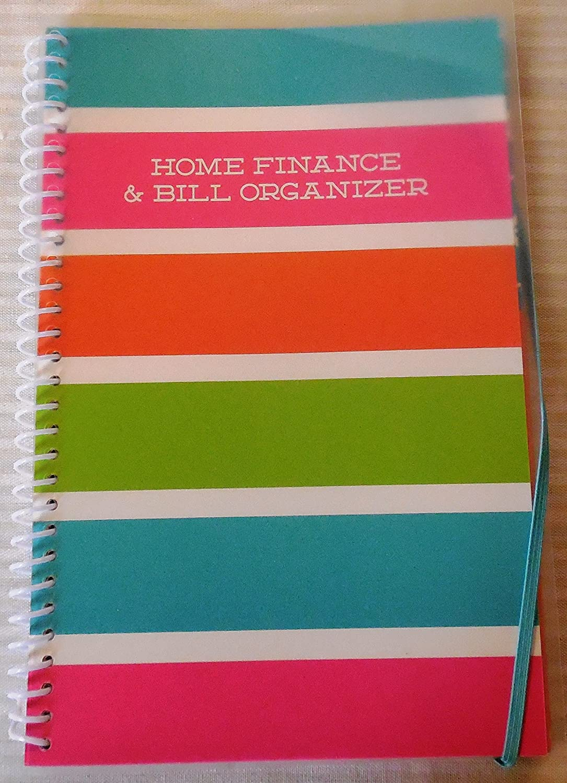 Home Finance & Bill Organizer with Pockets (Color Burst)