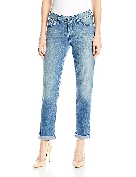 NYDJ Womens Jessica Relaxed Boyfriend Jeans