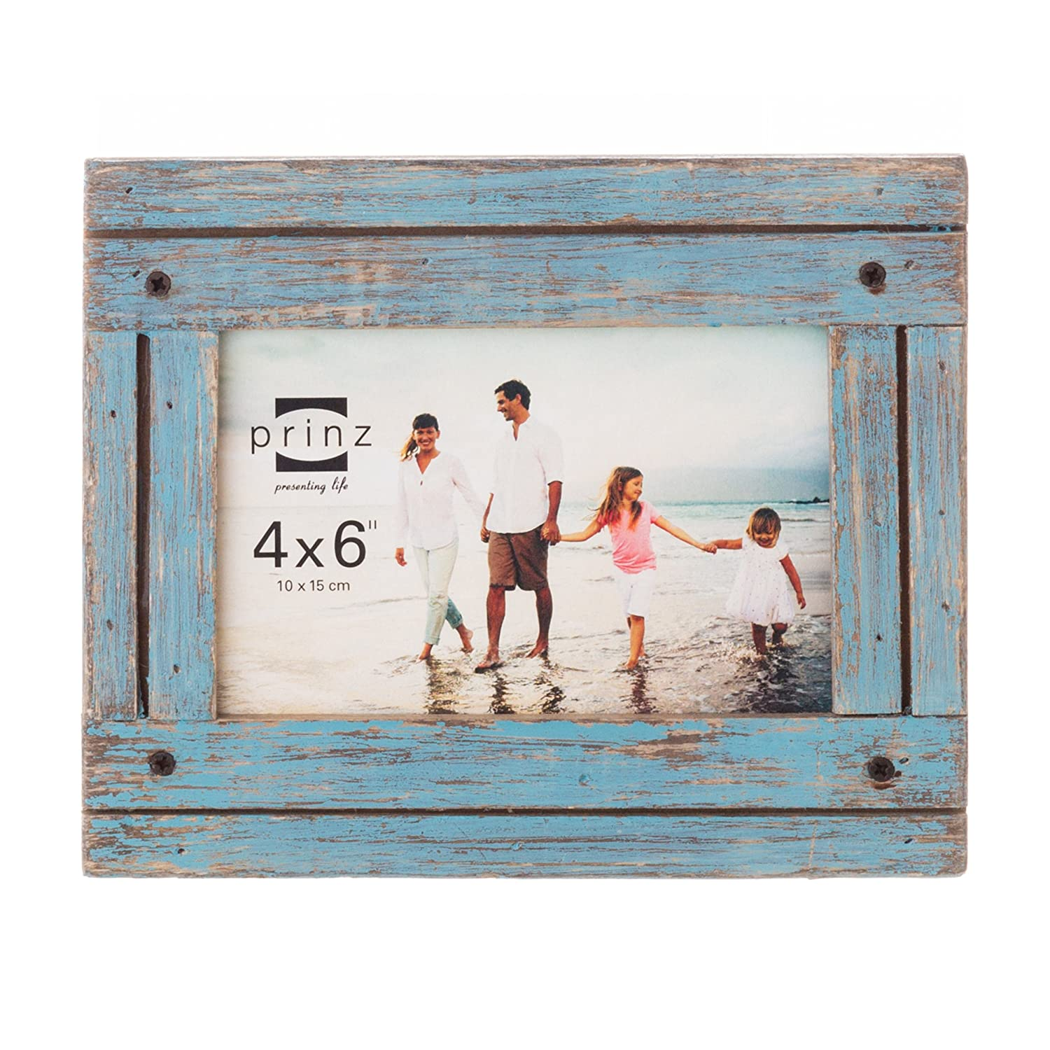 Amazon 8x10 homestead distressed blue wood frame jeuxipadfo Choice Image