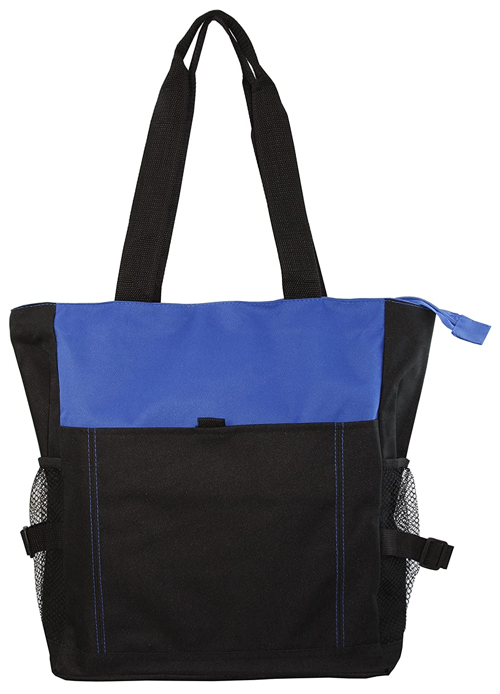 【超特価sale開催!】 デラックスZippered デラックスZippered Bag Tote Bag withメッシュサイドポケット B00S8KH39A ロイヤル/ブラック ロイヤル Tote/ブラック, ミサトムラ:6141977b --- fenixevent.ee