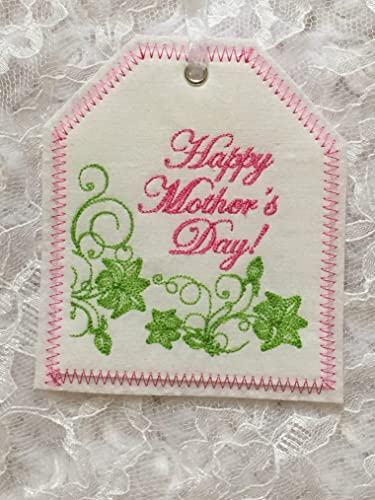 Personalized Embroidered Gift Tag, Mother's Day Embroidered Tag, Embroidered  Gift Tag, FabricReusable Embroidered