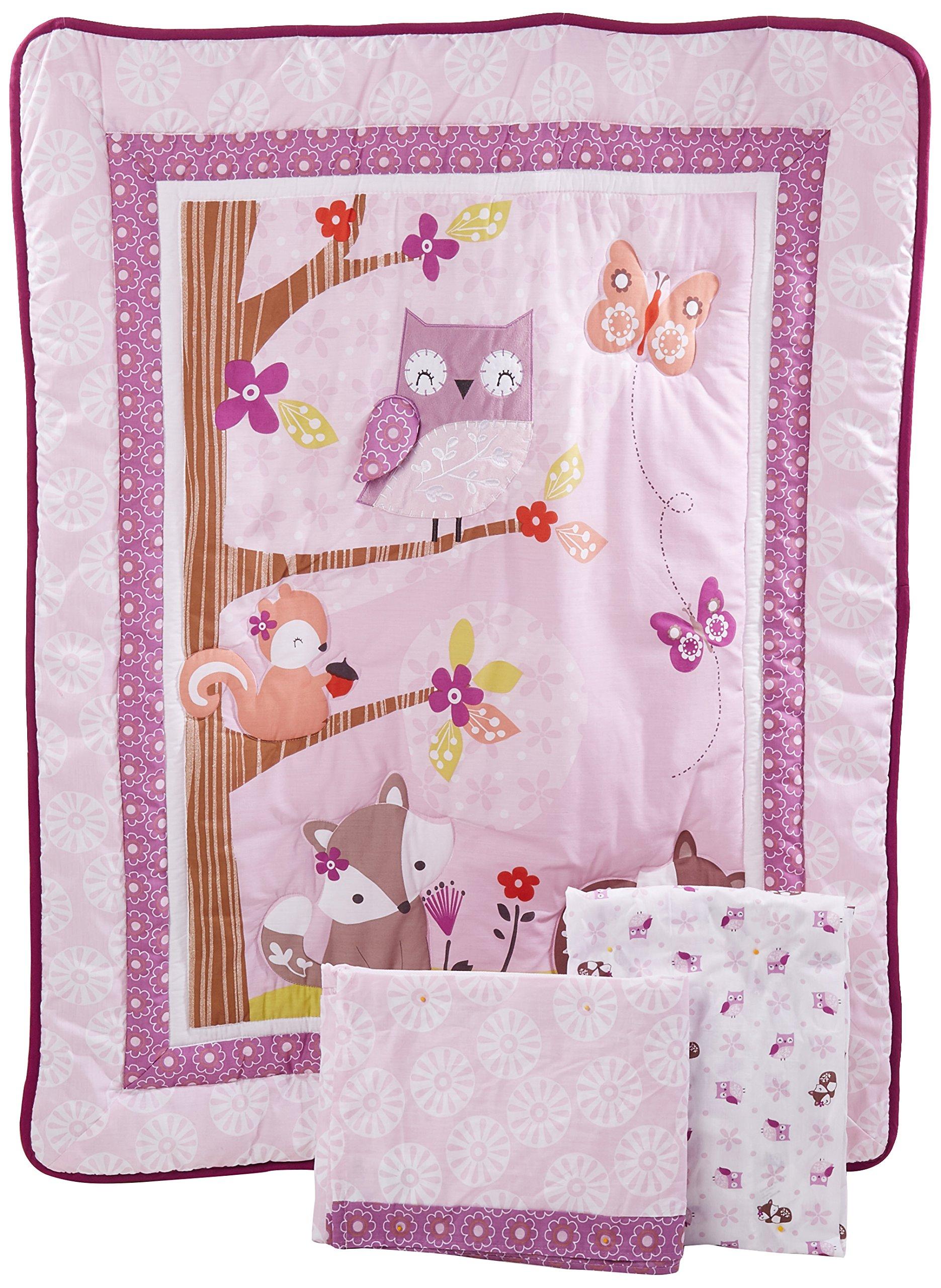 Bedtime Originals Lavender Woods 3 Piece Bedding Set