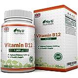 Vitamina B12 (Metilcobalamina) da 1000mcg, 180 Tavoletta (Fornitura Per 6 Mesi) - GARANZIA SODDISFATTI O RIMBORSATI AL 100% - Compresse Sublinguali (Da Sciogliere Sotto La Lingua) - La Forma Di Vitamina B12 Con Massima Biodisponibilità - Prodotto nel Regno Unito - Integratori alimentari Nu U Nutrition
