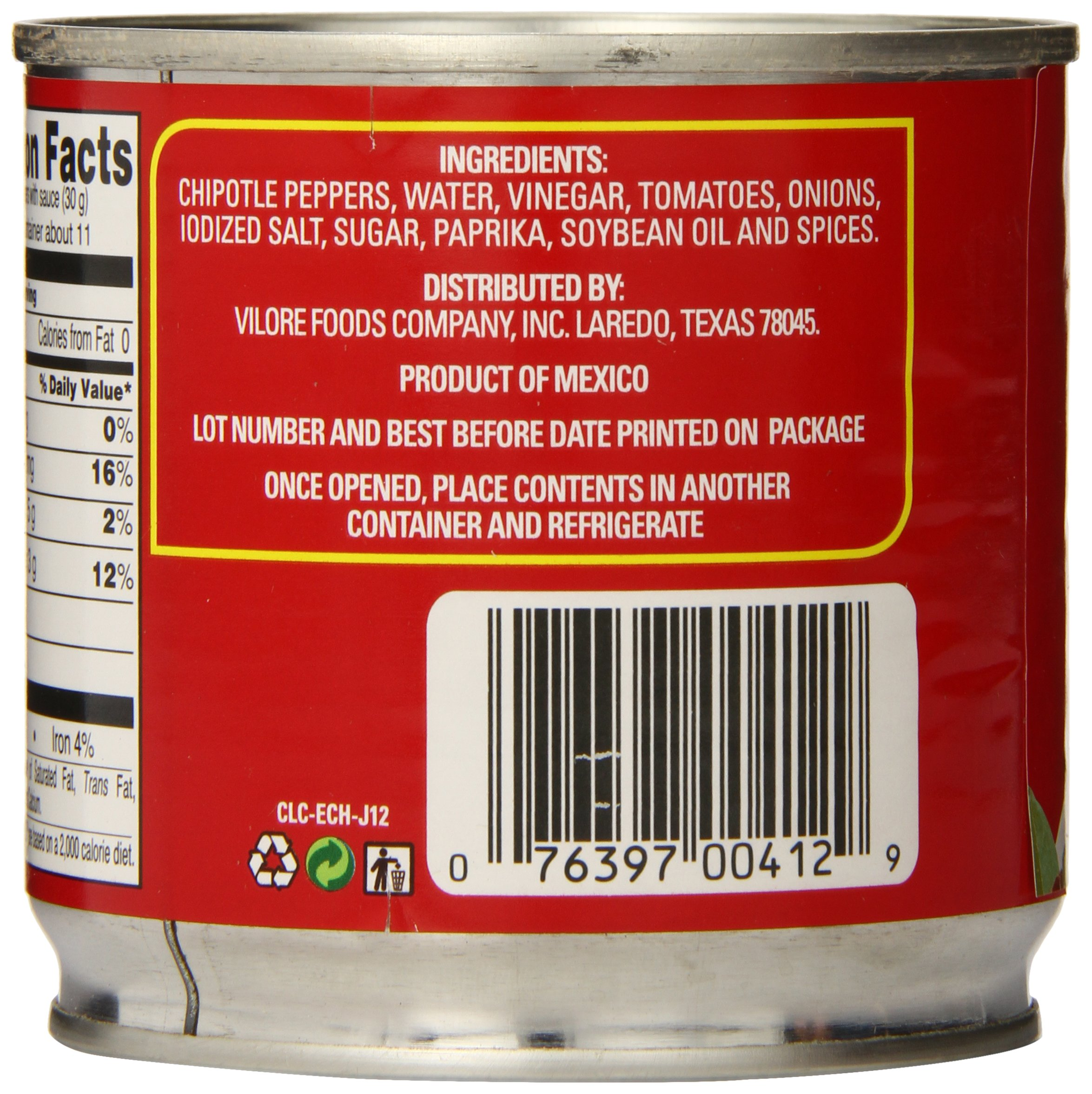 La Costena Chipotle Peppers, 12 Ounce (Pack of 12) by LA COSTENA (Image #5)