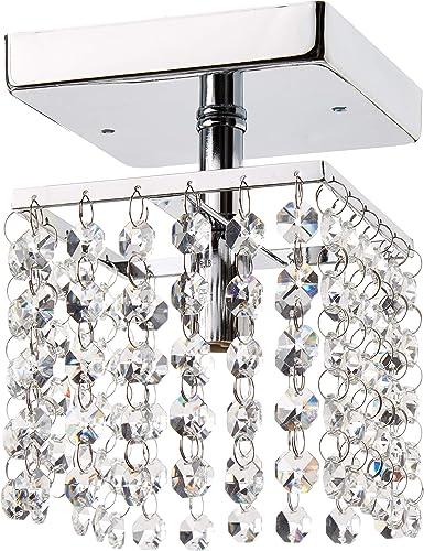Whse of Tiffany RL8086 Jhea 1-Light Crystal 5 Chandelier, 5 x 5 x 5 , Chrome