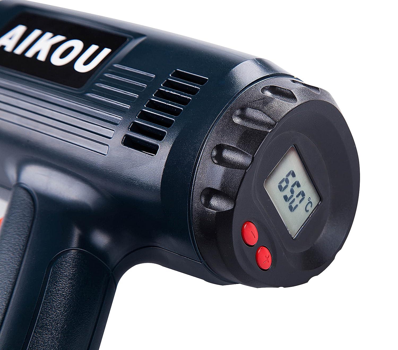 Vert la soudure le r/étr/écissement 2000W D/écapeur Thermique avec temp/érature r/églable de 100 ℃ ~ 650 ℃ et deux vitesses de vent pour le moulage
