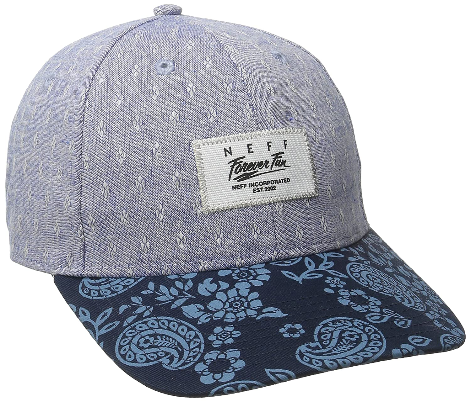 35b9526fa Amazon.com: NEFF Women's Sprung Cotton Twill Printed Hat, Blue One ...