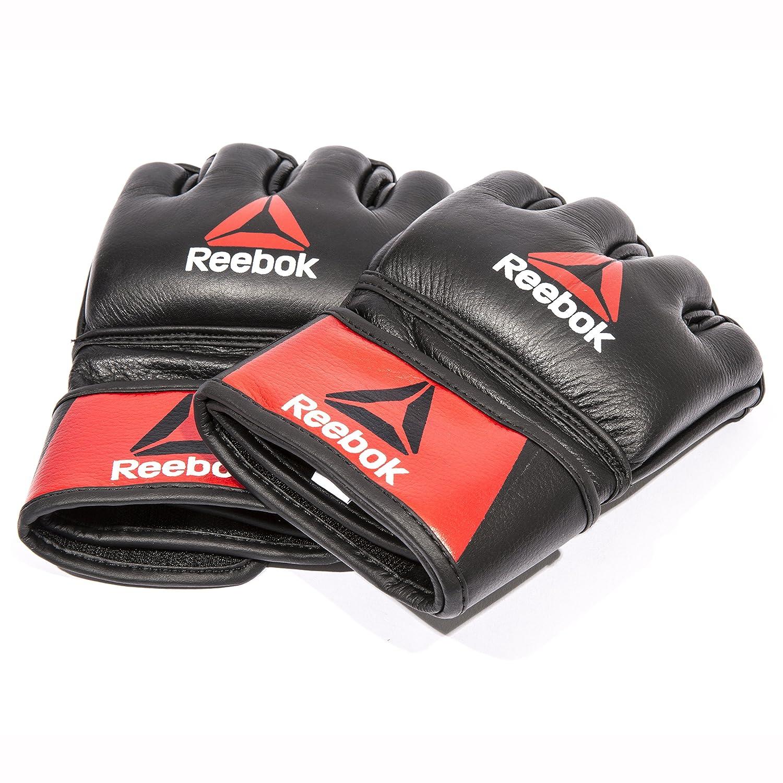 Reebok Guanto da Boxe in Pelle MMA - L Guanto da Boxe, Nero, 21.5x13.5x7 RFE International RSCB-10330RDBK