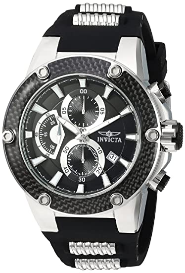 Amazon.com: Invicta Mens Speedway Quartz Stainless Steel and Silicone Casual Watch, Color:Black (Model: 22400): Watches