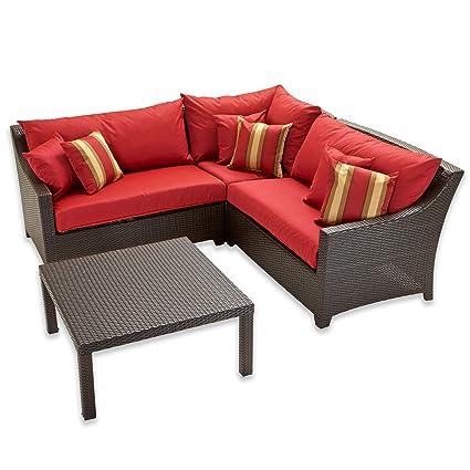 amazon com rst outdoor cantina corner sectional with coffee table rh amazon com corner sectional patio furniture small corner patio furniture