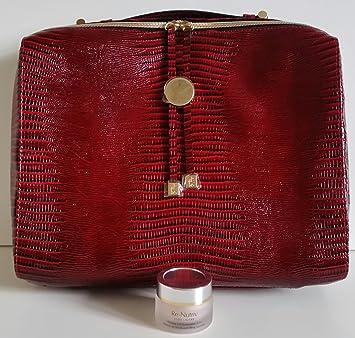 Estee Lauder - Bálsamo reparador de elevación de 24 g con estuche de vinilo rojo con estampado de animales, bolsa de viaje/cuaderno: Amazon.es: Belleza