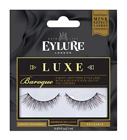 3b4bd8f2664 Amazon.com : Eylure Faux Mink Eye Lashes, Baroque : Beauty