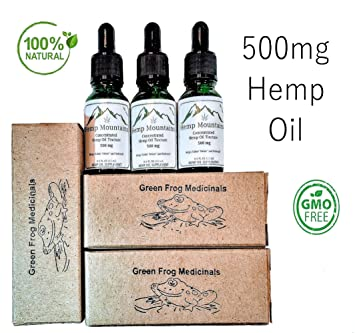 Hemp Oil Tincture - 500mg Hemp Oil Helps with Pain Relief, Anxiety, Sleep  and Stress Support, Herbal