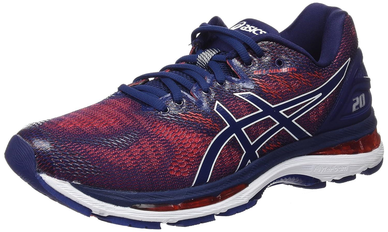 Asics Gel-Nimbus 20, Zapatillas de Running para Hombre 40.5 EU|Azul (Indigo Blue/Indigo Blue/Fiery Red 4949)