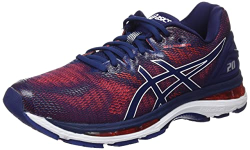 3bd287cb201 ASICS Men s Gel-Nimbus 20 Indigo Blue Fiery Running Shoes-9.5 UK ...
