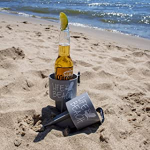 geckobrands Beverage Holder Stake, Life at The Beach