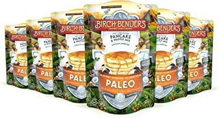 product image for Paleo Pancake and Waffle Mix by Birch Benders, Made with Cassava, Coconut and Almond Flour, Just Add Water, 72 Ounce Family Size (12 Ounce 6-pack)