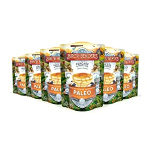 Paleo Pancake and Waffle Mix by Birch Benders, Made with Cassava, Coconut and Almond Flour, 72 Ounce Family Size (12 Ounce 6-pack)