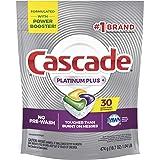 Cascade Platinum Dishwasher Pods, Actionpacs Dishwasher Detergent, Lemon Platinum Plus, 30 Count