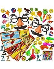 Lot de 100 Jouets en Vrac - Grand Assortiment - Pochettes Surprise - Piñatas - sac cadeau anniversaire, Bonbonniere, enfants petit cadeaux - Récompenses en Classe - Fête Cadeau aux Invités